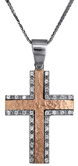 Βαπτιστικοί Σταυροί με Αλυσίδα Γυναικείος σταυρός με αλυσίδα 14Κ C012979 012979C Γυναικείο Χρυσός 14 Καράτια
