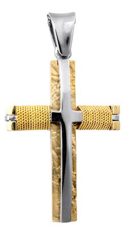 Σταυροί Βάπτισης - Αρραβώνα Ανδρικός σταυρός Κ14 012981 012981 Ανδρικό Χρυσός 14 Καράτια