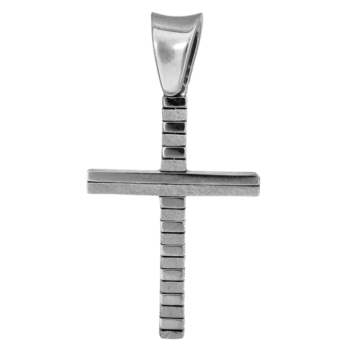 Σταυροί Βάπτισης - Αρραβώνα Λευκόχρυσος σταυρός 18Κ 013033 013033 Ανδρικό Χρυσός 18 Καράτια