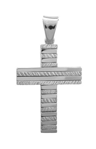 Σταυροί Βάπτισης - Αρραβώνα ΔΙΠΛΗΣ ΟΨΕΩΣ ΛΕΥΚΟΧΡΥΣΟΣ ΣΤΑΥΡΟΣ 18Κ 013036 Ανδρικό Χρυσός 18 Καράτια