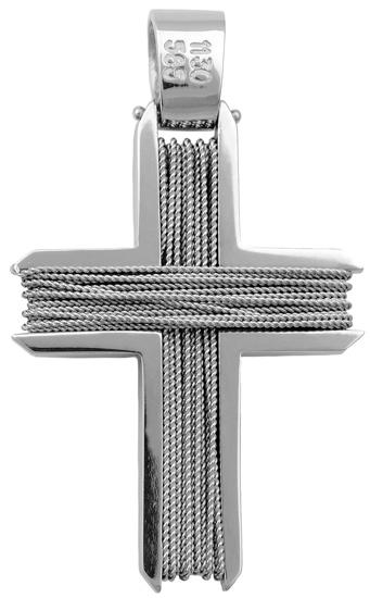 Σταυροί Βάπτισης - Αρραβώνα Χειροποίητος συρματερός σταυρός 18Κ 013040 Ανδρικό Χρυσός 18 Καράτια