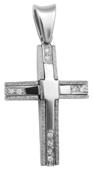 Σταυροί Βάπτισης - Αρραβώνα Γυναικείος σταυρός 18Κ με διαμάντια 013063 013063 Γυναικείο Χρυσός 18 Καράτια
