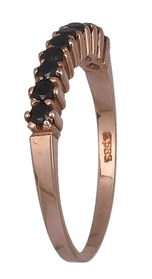Ροζ Gold δαχτυλίδι 14K 013154 013154 Χρυσός 14 Καράτια