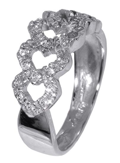 Λευκόχρυσο δαχτυλίδι Κ14 013155 013155 Χρυσός 14 Καράτια