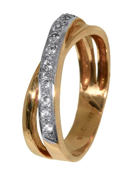 Ροζ χρυσό δαχτυλίδι 013156 Χρυσός 14 Καράτια