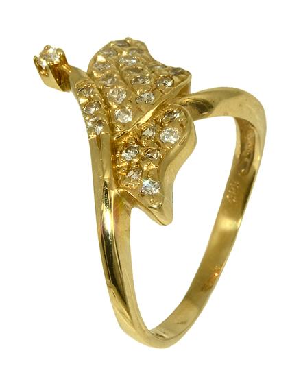 Χρυσό δαχτυλίδι πεταλούδα 013157 Χρυσός 14 Καράτια