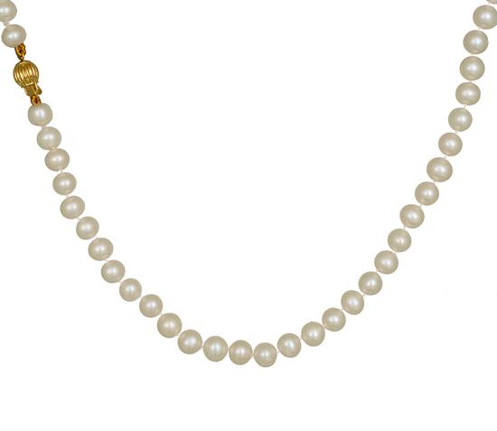 Κολιέ με μαργαριτάρια 013206 Χρυσός 14 Καράτια