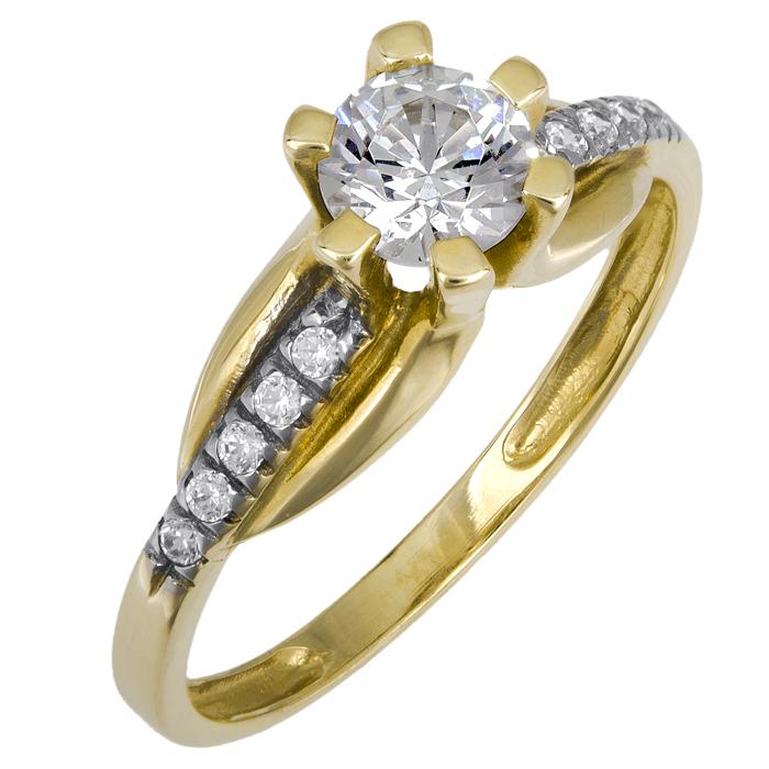 Μονόπετρο δαχτυλίδι Κ14 013256 013256 Χρυσός 14 Καράτια
