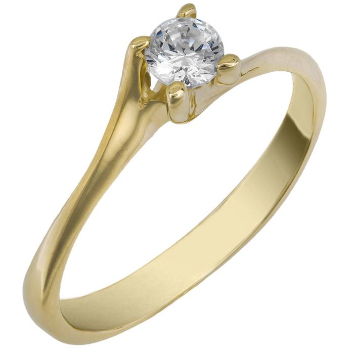 Χρυσό Μονόπετρο Δαχτυλίδι 14Κ 013267 Χρυσός 14 Καράτια