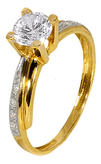 ΧΡΥΣΟ ΜΟΝΟΠΕΤΡΟ ΔΑΧΤΥΛΙΔΙ 013273 Χρυσός 14 Καράτια χρυσά κοσμήματα δαχτυλίδια μονόπετρα