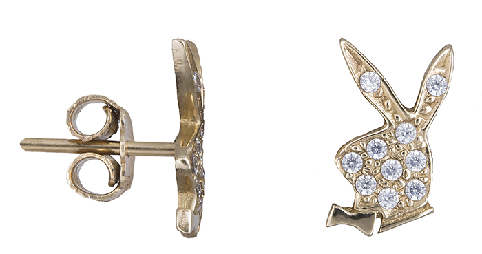 Χρυσά σκουλαρίκια με κουνελάκι 14Κ 013381 013381 Χρυσός 14 Καράτια
