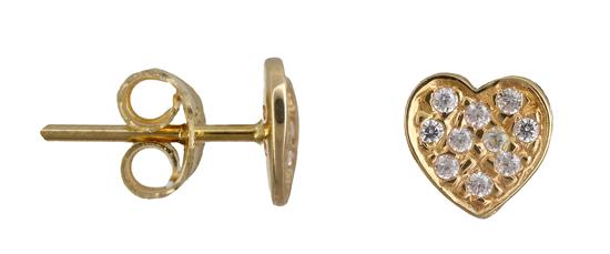Χρυσά σκουλαρίκια καρδούλα Κ14 013385 013385 Χρυσός 14 Καράτια