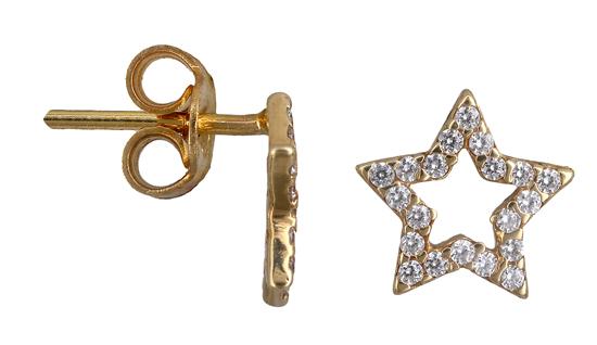 Χρυσά σκουλαρίκια αστέρι Κ14 013394 013394 Χρυσός 14 Καράτια