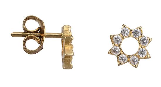 Χρυσά σκουλαρίκια Κ14 013397 013397 Χρυσός 14 Καράτια