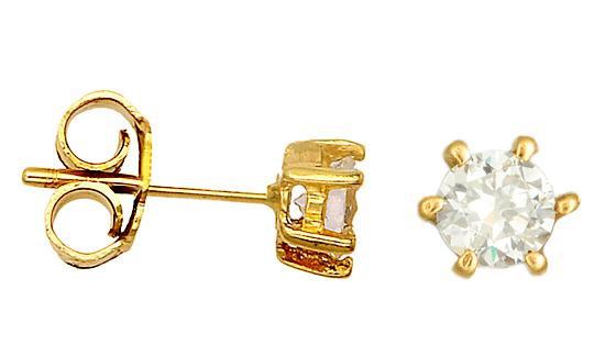 ΧΡΥΣΑ ΚΟΣΜΗΜΑΤΑ ONLINE 013403 013403 Χρυσός 14 Καράτια χρυσά κοσμήματα σκουλαρίκια καρφωτά