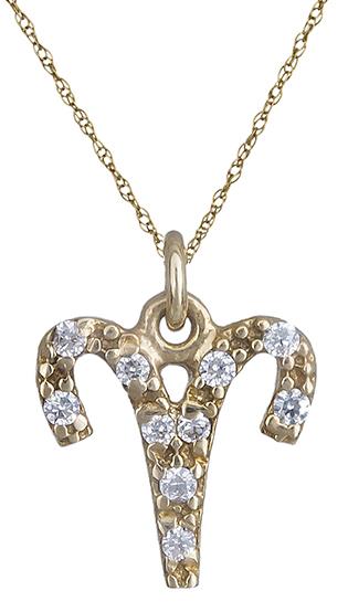 Χρυσό κολιέ του Κριού 013446 013446 Χρυσός 14 Καράτια