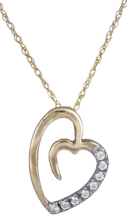 Κολιέ χρυσή καρδιά 013575 013575 Χρυσός 14 Καράτια