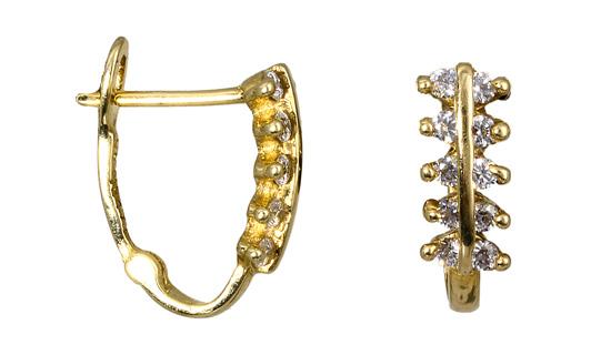 Σκουλαρίκια από χρυσό 013617 Χρυσός 14 Καράτια χρυσά κοσμήματα σκουλαρίκια καρφωτά