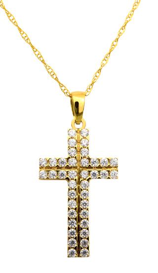 Χρυσός σταυρός 14Κ με αλυσίδα C013621 013621C Χρυσός 14 Καράτια χρυσά κοσμήματα σταυροί