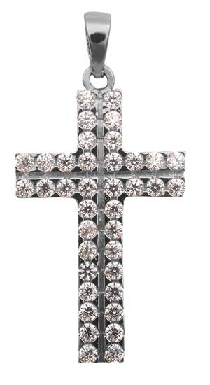 Λευκόχρυσος σταυρός 14Κ 013622 013622 Χρυσός 14 Καράτια