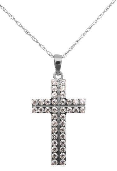 Λευκόχρυσος σταυρός 14Κ C013622 013622C Χρυσός 14 Καράτια