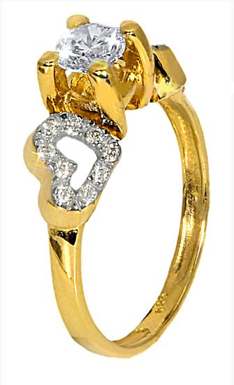 Χρυσό Μονόπετρο Δαχτυλίδι 14Κ 013686 Χρυσός 14 Καράτια χρυσά κοσμήματα
