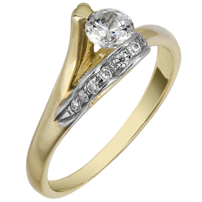 ΧΡΥΣΟ ΜΟΝΟΠΕΤΡΟ ΔΑΧΤΥΛΙΔΙ ΜΕ ΠΕΤΡΕΣ ΖΙΡΓΚΟΝ 013693 Χρυσός 14 Καράτια χρυσά κοσμήματα δαχτυλίδια μονόπετρα