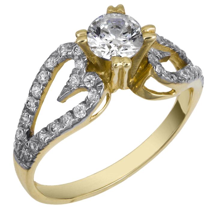 Χρυσό Μονόπετρο Δαχτυλίδι 14Κ 013697 Χρυσός 14 Καράτια