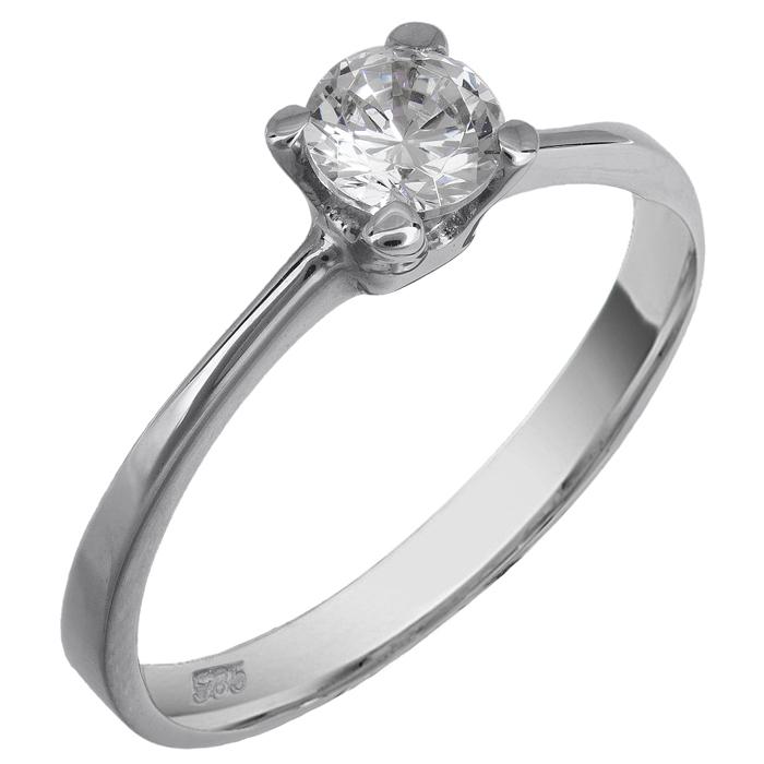 Δαχτυλίδι μονόπετρο με ζιργόν 013813 Χρυσός 9 Καράτια  c64938375cc