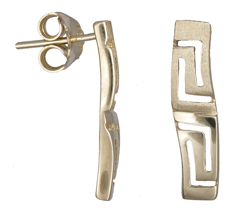 Γυναικεία σκουλαρίκια μαίανδρος 14K 013831 013831 Χρυσός 14 Καράτια χρυσά κοσμήματα σκουλαρίκια καρφωτά