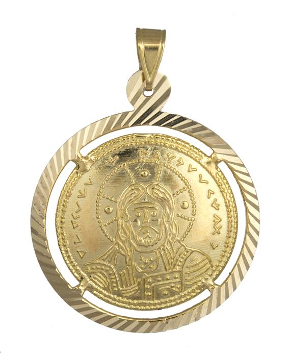 Παιδικό φυλαχτό κωνσταντινάτο 14Κ χρυσό 013878 013878 Χρυσός 14 Καράτια