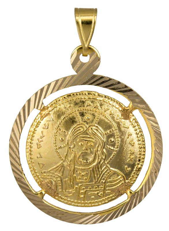 Κωνσταντινάτο - φυλαχτό διπλής όψης 14Κ 013880 013880 Χρυσός 14 Καράτια