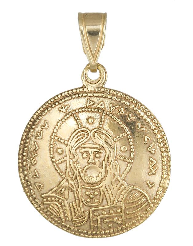 Χρυσό φυλαχτό κωνσταντινάτο 013885 013885 Χρυσός 14 Καράτια