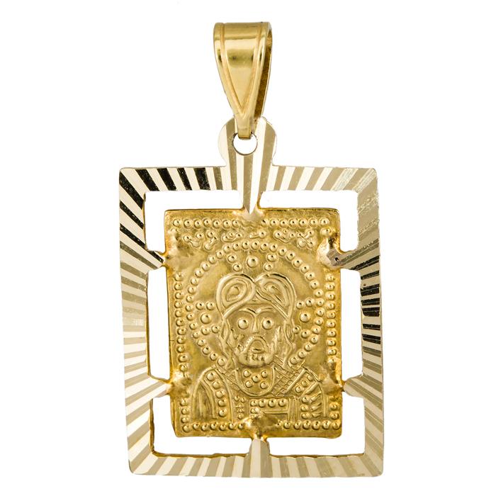 Χρυσό Κωνσταντινάτο διπλής όψης Κ14 013886 013886 Χρυσός 14 Καράτια