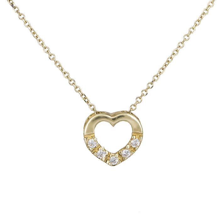 Γυναικείο κρεμαστό χρυσό Κ14 καρδούλα 013912 013912 Χρυσός 14 Καράτια