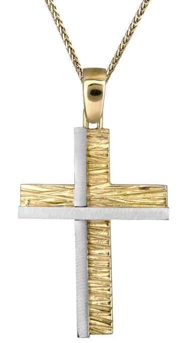 Βαπτιστικοί Σταυροί με Αλυσίδα Ανδρικός σταυρός με αλυσίδα 9Κ C013924 013924C Ανδρικό Χρυσός 9 Καράτια