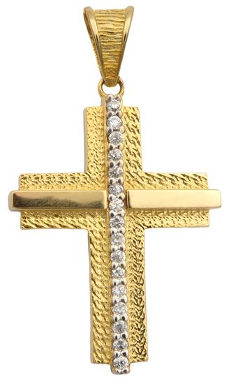 Σταυροί Βάπτισης - Αρραβώνα Χρυσός σταυρός 14Κ 013954 Γυναικείο Χρυσός 14 Καράτια
