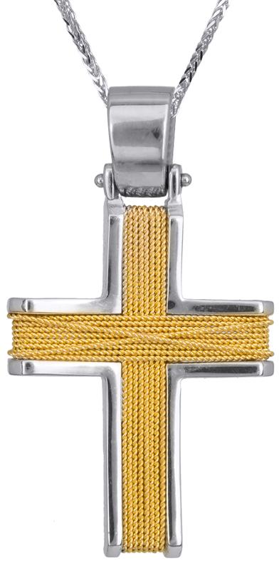 Βαπτιστικοί Σταυροί με Αλυσίδα Ανδρικός σταυρός Κ18 c001424 014124C Ανδρικό Χρυσός 18 Καράτια