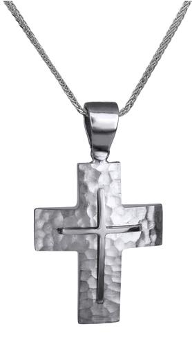 Βαπτιστικοί Σταυροί με Αλυσίδα ΛΕΥΚΟΧΡΥΣΟΣ ΣΤΑΥΡΟΣ ΜΕ ΑΛΥΣΙΔΑ 14Κ 014131C Ανδρικό Χρυσός 14 Καράτια
