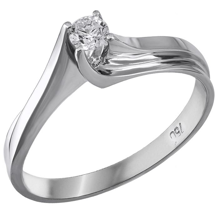 Μονόπετρο δαχτυλίδι Κ18 με διαμάντι 014138 014138 Χρυσός 18 Καράτια