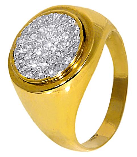 Χρυσό Chevalier Δαχτυλίδι με Πέτρες 9Κ 014186 Χρυσός 9 Καράτια χρυσά κοσμήματα δαχτυλίδια με μαργαριτάρια και διάφορες πέτρες