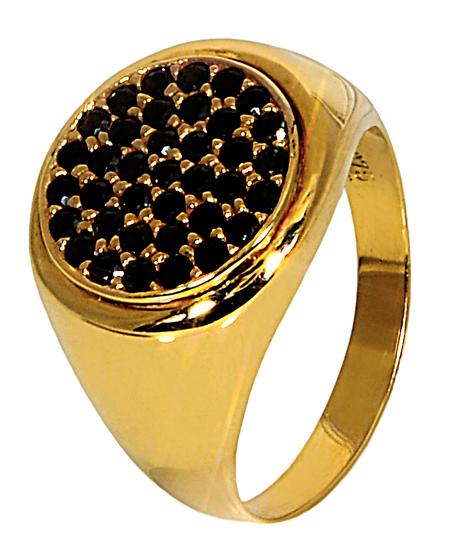 CHEVALIER ΧΡΥΣΟ ΔΑΧΤΥΛΙΔΙ 9Κ ΜΕ ΜΑΥΡΕΣ ΠΕΤΡΕΣ 014187 Χρυσός 14 Καράτια χρυσά κοσμήματα δαχτυλίδια με μαργαριτάρια και διάφορες πέτρες