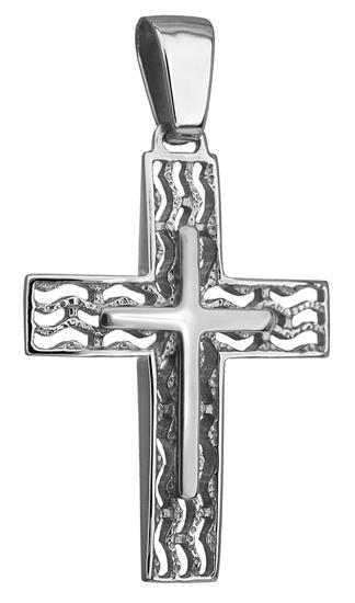 Σταυροί Βάπτισης - Αρραβώνα ΛΕΥΚΟΧΡΥΣΟΣ ΣΤΑΥΡΟΣ 14Κ 014234 014234 Ανδρικό Χρυσός 14 Καράτια