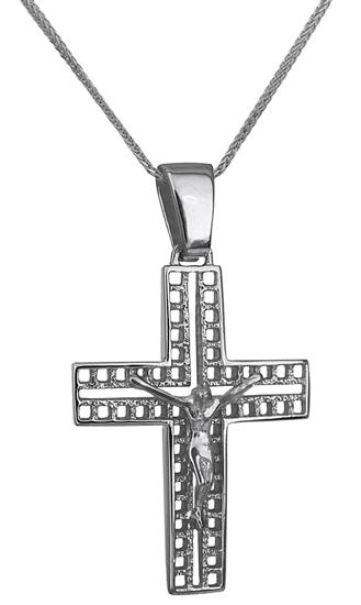 Βαπτιστικοί Σταυροί με Αλυσίδα ΛΕΥΚΟΧΡΥΣΟΣ ΣΤΑΥΡΟΣ 14Κ ΜΕ ΑΛΥΣΙΔΑ 014237C Ανδρικό Χρυσός 14 Καράτια