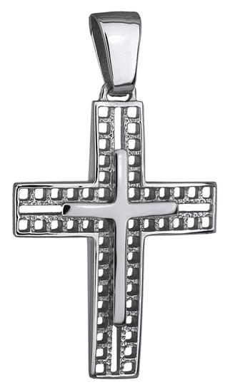 Σταυροί Βάπτισης - Αρραβώνα ΛΕΥΚΟΧΡΥΣΟΣ ΣΤΑΥΡΟΣ 14Κ 014240 Ανδρικό Χρυσός 14 Καράτια