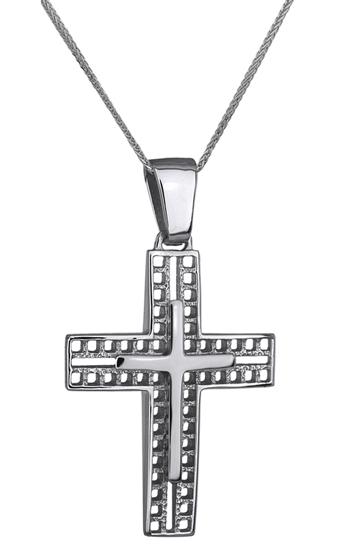 Βαπτιστικοί Σταυροί με Αλυσίδα ΛΕΥΚΟΧΡΥΣΟΣ ΣΤΑΥΡΟΣ ΜΕ ΑΛΥΣΙΔΑ 14Κ 014240C Ανδρικό Χρυσός 14 Καράτια