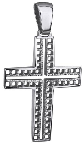 Σταυροί Βάπτισης - Αρραβώνα ΛΕΥΚΟΧΡΥΣΟΣ ΣΤΑΥΡΟΣ 14Κ 014242 014242 Ανδρικό Χρυσός 14 Καράτια