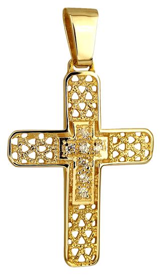Σταυροί Βάπτισης - Αρραβώνα ΧΡΥΣΟΣ ΣΤΑΥΡΟΣ Κ14 014243 Γυναικείο Χρυσός 14 Καράτια