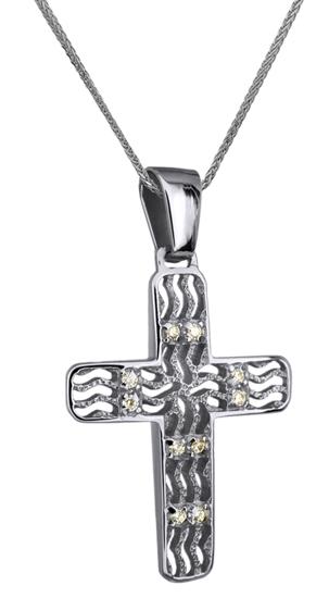 Βαπτιστικοί Σταυροί με Αλυσίδα ΛΕΥΚΟΧΡΥΣΟΣ ΣΤΑΥΡΟΣ 14Κ ΜΕ ΑΛΥΣΙΔΑ 014249C Γυναικείο Χρυσός 14 Καράτια