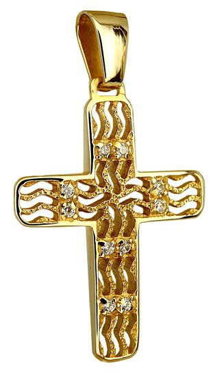Σταυροί Βάπτισης - Αρραβώνα ΧΡΥΣΟΣ ΣΤΑΥΡΟΣ Κ14 014250 Γυναικείο Χρυσός 14 Καράτια
